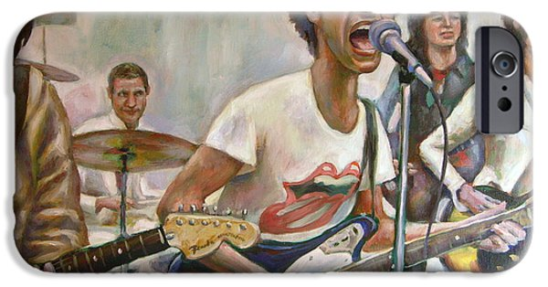 Charlie Watts iPhone Cases - The Rolling Stones iPhone Case by Brian Coyne