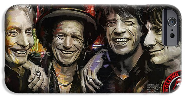 Keith Richards iPhone Cases - The Rolling Stones iPhone Case by Corporate Art Task Force