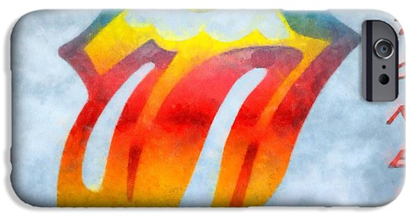 Charlie Watts iPhone Cases - The Rolling Stones iPhone Case by Dan Sproul