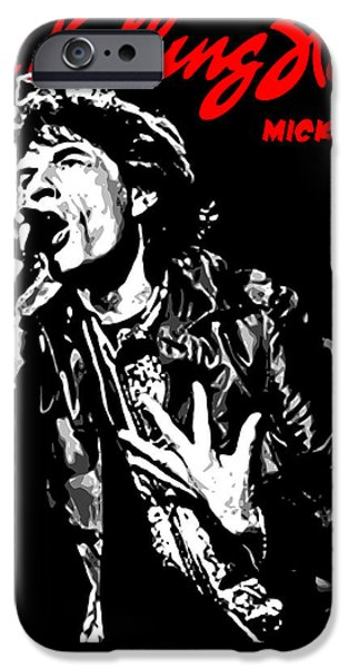 The Rolling Stones No01 iPhone Case by Caio Caldas