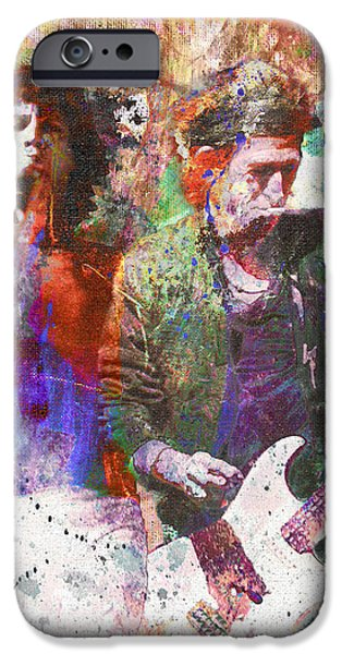 Painted Paintings iPhone Cases - The Rolling Stones Original Painting Print  iPhone Case by Ryan RockChromatic