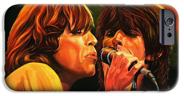 Keith Richards iPhone Cases - The Rolling Stones iPhone Case by Paul Meijering