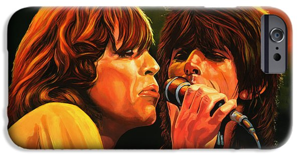 Celebrities Art iPhone Cases - The Rolling Stones iPhone Case by Paul Meijering