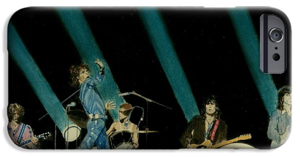 Music Pastels iPhone Cases - The Rolling Stones - Rip This Joint iPhone Case by Sean Connolly