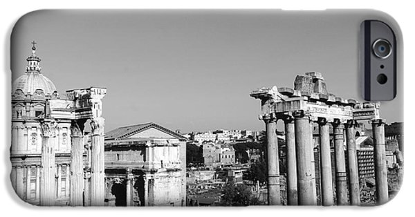 Julius Caesar iPhone Cases - The Roman Forum in the evening iPhone Case by Stefano Senise