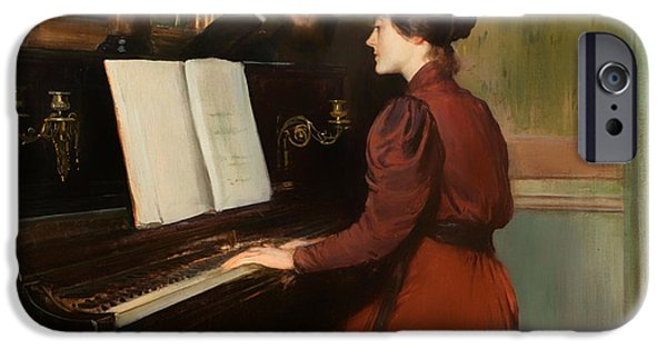 Recently Sold -  - Piano iPhone Cases - The Romance iPhone Case by Santiago Rusinol