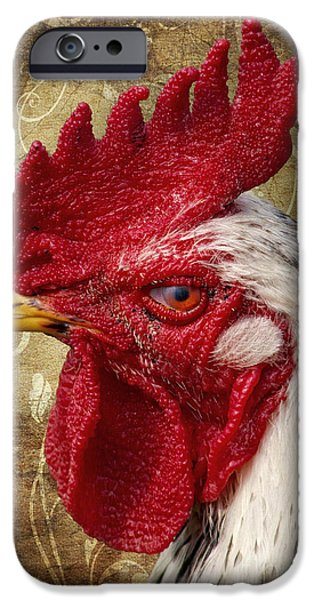 The rooster iPhone Case by Angela Doelling AD DESIGN Photo and PhotoArt