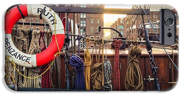 Morning iPhone Cases - The Ropes Of Ruth iPhone Case by Paul Tully