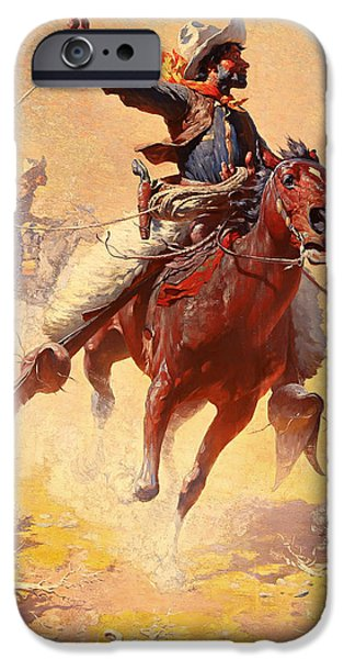 Roping Horse iPhone Cases - The Roping iPhone Case by William Leight