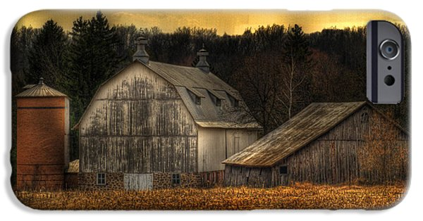 Old Barns iPhone Cases - The Rose Farm iPhone Case by Thomas Young