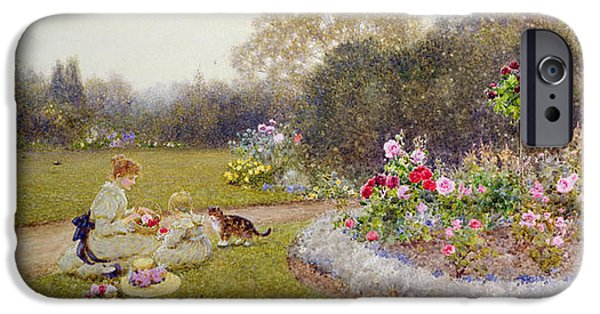 Formal iPhone Cases - The Rose Garden iPhone Case by Thomas James Lloyd