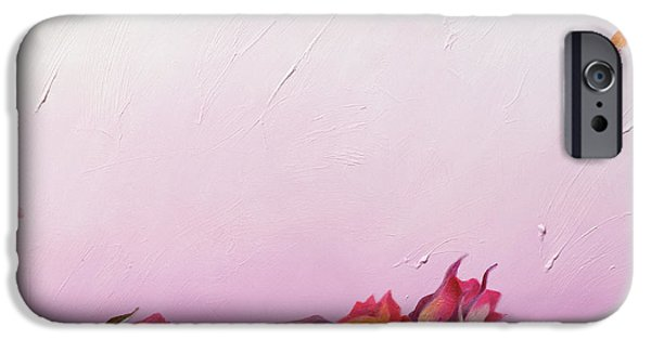 Bud iPhone Cases - The Roses, 2002 Oil On Canvas iPhone Case by Myung-Bo Sim