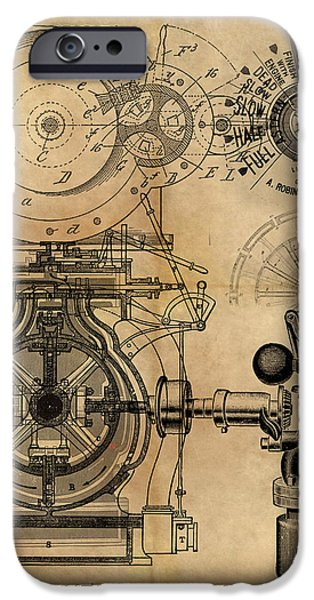 James Christopher Hill iPhone Cases - The Rotary Engine iPhone Case by James Christopher Hill