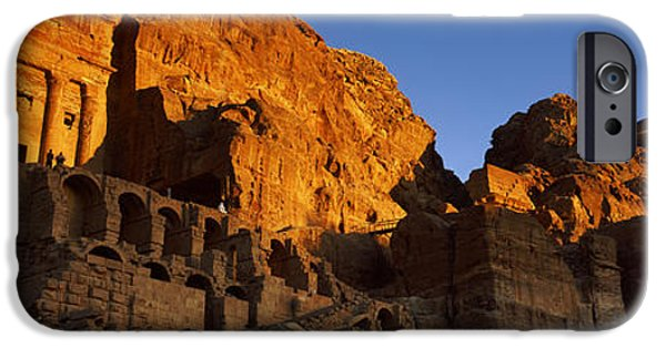 Jordan iPhone Cases - The Royal Tombs At Petra, Wadi Musa iPhone Case by Panoramic Images