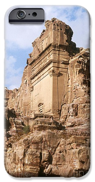 Jordan iPhone Cases - The Royal Tombs, Petra iPhone Case by Catherine Ursillo