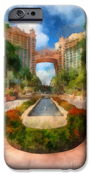 Atlantis iPhone Cases - The Royal Towers Atlantis Resort iPhone Case by Amy Cicconi