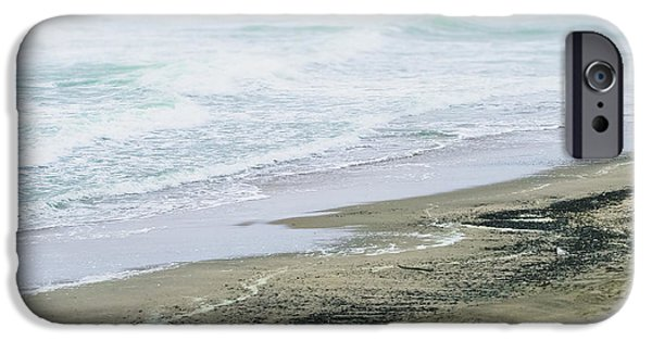 Beach Landscape iPhone Cases - The Rush of the Waves iPhone Case by Colleen Kammerer