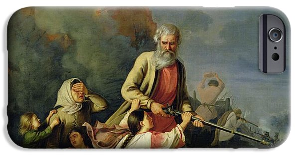 Anguish iPhone Cases - The Russians In 1812, 1855 Oil On Canvas iPhone Case by Konstantin Przhceslavski