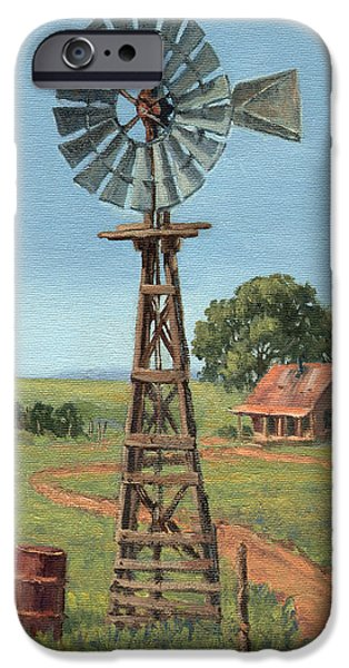 Barrel Paintings iPhone Cases - The Rusty Barrel iPhone Case by Randy Follis