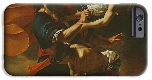 Sacrificial iPhone Cases - The Sacrifice Of Isaac, 1613 Oil On Canvas iPhone Case by Mattia Preti