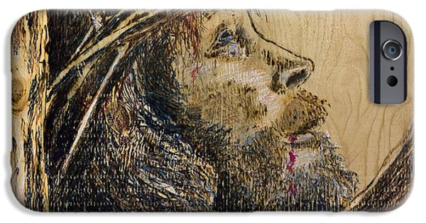 Religious Pyrography iPhone Cases - The Sacrifice iPhone Case by Richard Jules