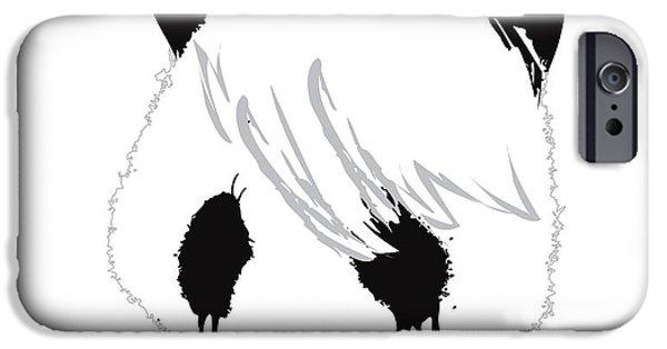 Sad iPhone Cases - The sad panda iPhone Case by Budi Kwan