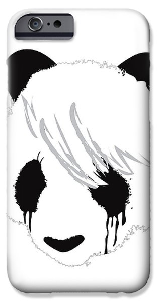 The sad panda iPhone Case by Budi Kwan