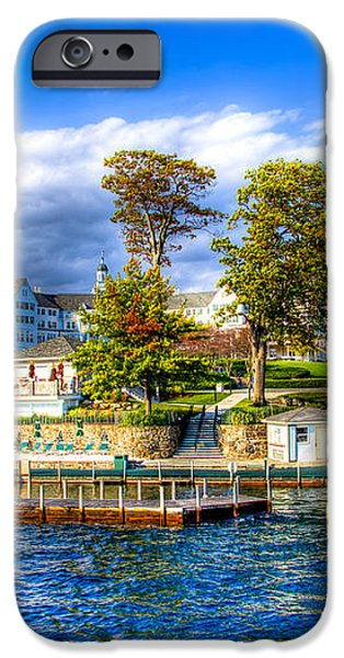 The Sagamore Hotel on Lake George iPhone Case by David Patterson