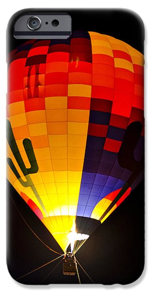 Hot Air Balloon iPhone Cases - The Saguaro Balloon  iPhone Case by Saija  Lehtonen