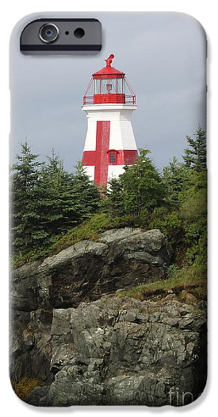 East Quoddy Lighthouse iPhone Cases - The Sailors Signpost iPhone Case by Christiane Schulze Art And Photography