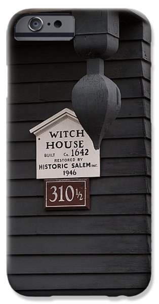 House iPhone Cases - The Salem Massachusetts Witch House iPhone Case by Jeff Folger