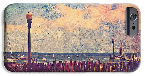 Texture iPhone Cases - The Salty Air Sea Breeze In Her Hair IV iPhone Case by Aurelio Zucco