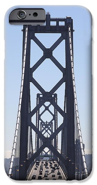 Baybridge iPhone Cases - The San Francisco Bay Bridge Into The City 5D25419 vertical iPhone Case by Wingsdomain Art and Photography