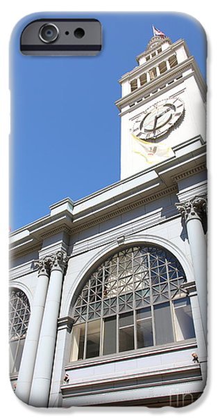 Clock Shop iPhone Cases - The San Francisco Ferry Building 5D25385 iPhone Case by Wingsdomain Art and Photography