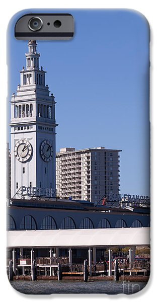 Clock Shop iPhone Cases - The San Francisco Ferry Building 5D29686 iPhone Case by Wingsdomain Art and Photography