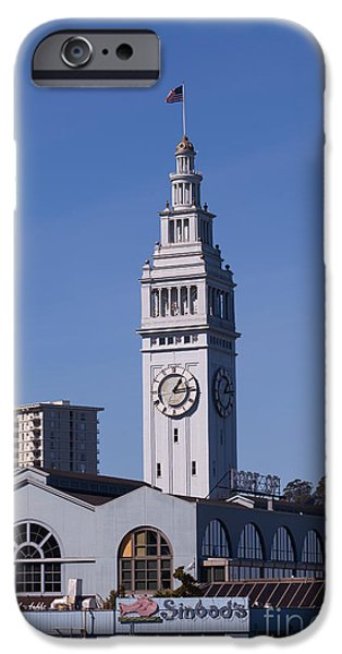 Clock Shop iPhone Cases - The San Francisco Ferry Building 5D29697 iPhone Case by Wingsdomain Art and Photography