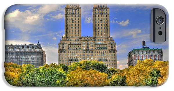 Twin Towers Nyc iPhone Cases - The San Remo Building in Upper West Side Manhattan iPhone Case by Randy Aveille