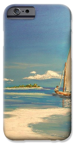 Sailing Pastels iPhone Cases - The Sand Bar iPhone Case by The Beach  Dreamer