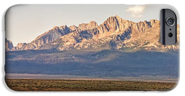 Haybale iPhone Cases - The Sawtooths iPhone Case by Robert Bales