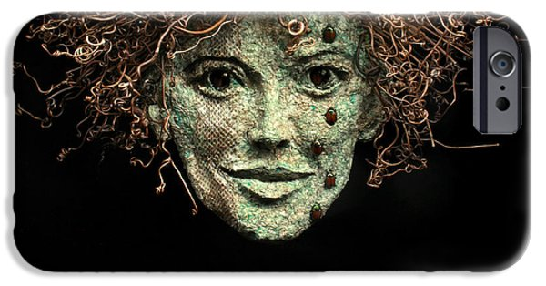 Human Figure Reliefs iPhone Cases - The Scales Have Fallen From My Eyes Original relief wall hanging sculpture iPhone Case by Adam Long