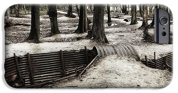 World War One iPhone Cases - The Scared Landscape iPhone Case by John Gomez