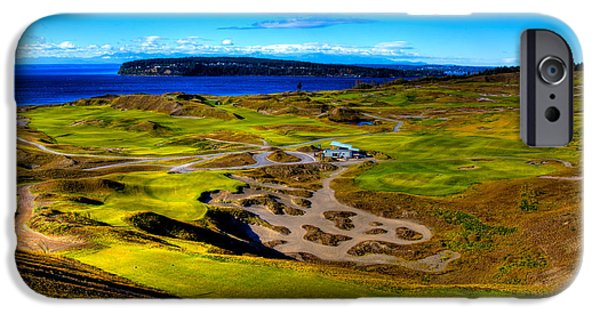 Us Open Photographs iPhone Cases - The Scenic Chambers Bay Golf Course III - Location Of The 2015 U.s. Open Tournament iPhone Case by David Patterson