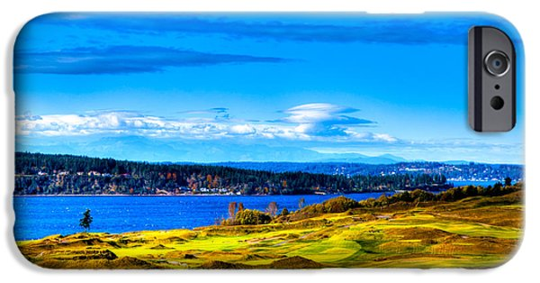 Us Open Photographs iPhone Cases - The Scenic Chambers Bay Golf Course IV - Location of the 2015 U.S. Open Tournament iPhone Case by David Patterson