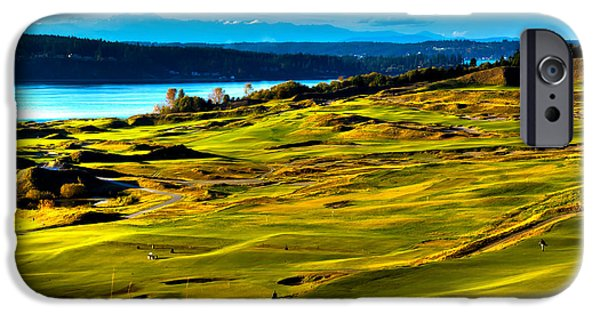 David Patterson iPhone Cases - The Scenic Chambers Bay Golf Course - Location of the 2015 U.S. Open Tournament iPhone Case by David Patterson