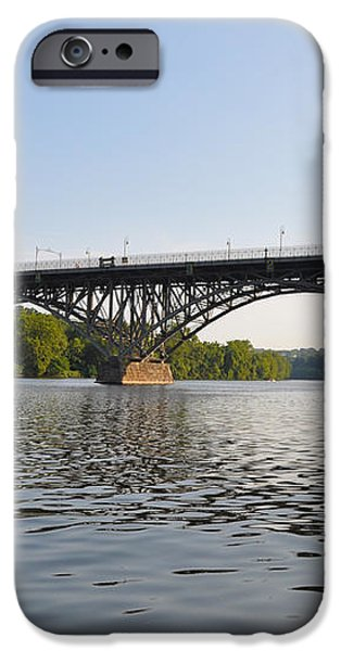 The Schuylkill River and Strawbery Mansion Bridge iPhone Case by Bill Cannon
