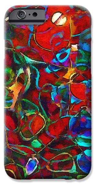 Abstract Expressionism iPhone Cases - The Scourge of Love iPhone Case by RC deWinter