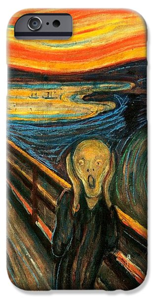 Recently Sold -  - David iPhone Cases - The Scream Edvard Munch 1893                    iPhone Case by Movie Poster Prints