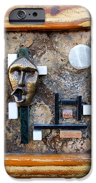 Abstract Reliefs iPhone Cases - The scream iPhone Case by Francis Flury