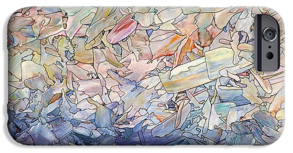 Sea iPhone Cases - Fragmented Sea iPhone Case by James W Johnson