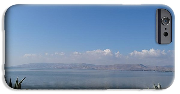 Christ Walking On Water iPhone Cases - The Sea of Galilee at Capernaum iPhone Case by Karen J Jones